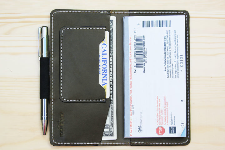 Wickett and Craig Leather checkbook wallet - 010124