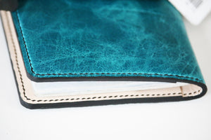 Leather Passport holder - distressed leather - 010126