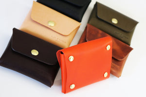 leather snap wallet - 010133
