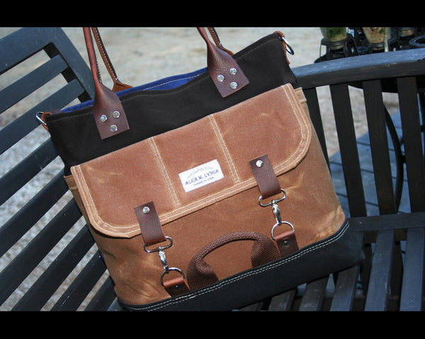 tote bag No.602 - heavy waxed canvas everyday tote - made in USA