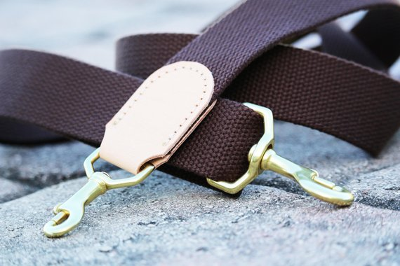 1.50 in wide adjustable cotton webbing shoulder strap