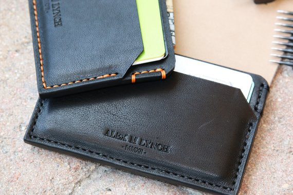 Slim card holder - Horween leather - 010118