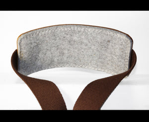 LEATHER AND WOOL SHOULDER STRAP PAD