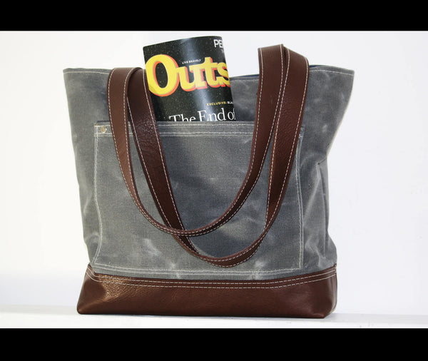 WAXED CANVAS TOTE BAG #010052
