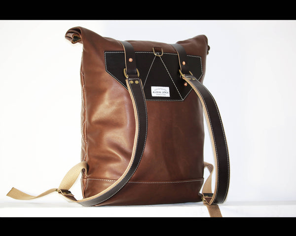 LEATHER BACKPACK RUCKSACK #010056