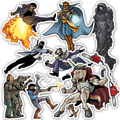 Dr. McNinja Battle Magnets