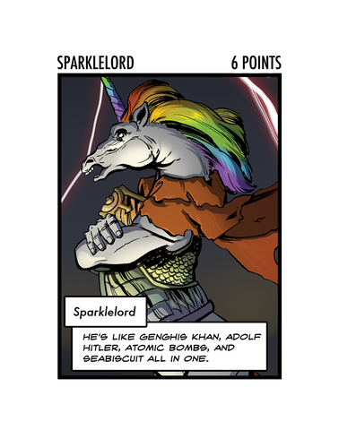 Sparklelord: The Oversized Card