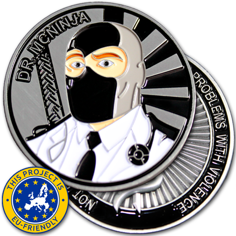 Dr. McNinja Challenge Coin - EU Friendly