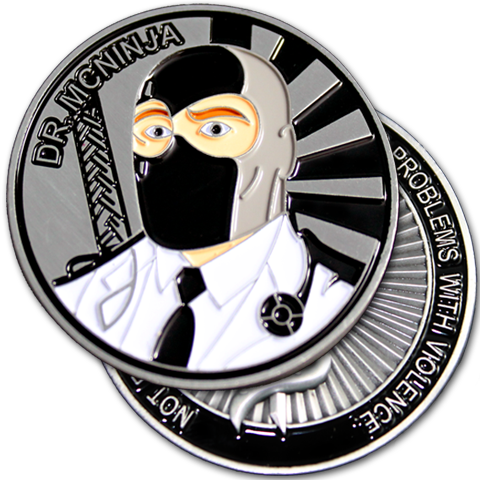 Dr. McNinja Challenge Coin - ON SALE!