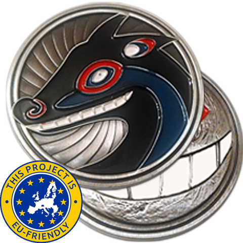Coyote and The Moon Challenge Coin - EU Friendly