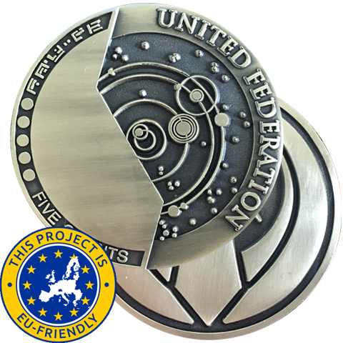 Federation Credits Challenge Coin - EU Friendly