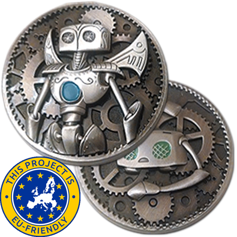 Gunnerkrigg Court Robots Coin - EU Friendly