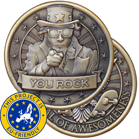 Presidential Medal of Awesomeness Challenge Coin - EU Friendly