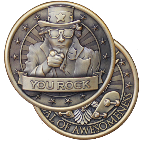 Presidential Medal of Awesomeness Challenge Coin