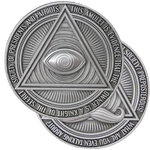Secret Society Amulet Challenge Coin