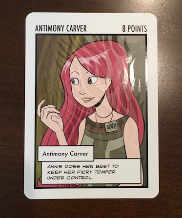 Antimony Carver: The Oversized Card