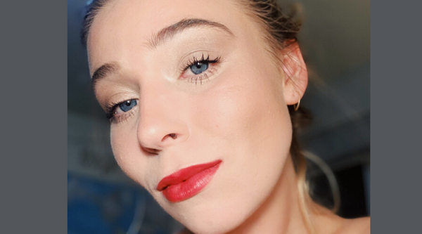 Holiday Look: Red Lip & Shimmery Neutral Eye