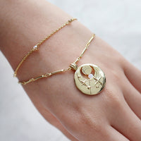 October Birthstone Gold Bracelet - Wanderlust + Co