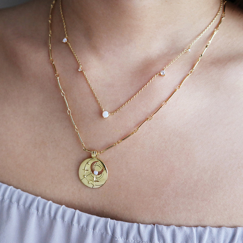 3aba62b6bac94 October Birthstone Gold Necklace