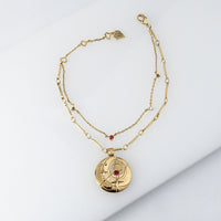 January Birthstone Gold Bracelet - Wanderlust + Co