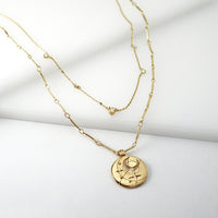 April Birthstone Gold Necklace - Wanderlust + Co