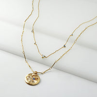 September Birthstone Gold Necklace - Wanderlust + Co