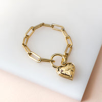 Harlow Gold Locket Bracelet - Wanderlust + Co