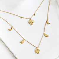 Stella Gold Moon Necklace - Wanderlust + Co