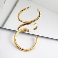 Faye XL Gold Hoop Earrings - Wanderlust + Co