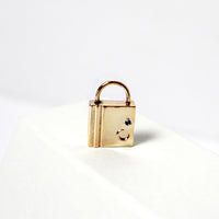 Crescent Lock Gold Charm - Wanderlust + Co