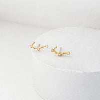 Gemini Zodiac Gold Earrings - Wanderlust + Co