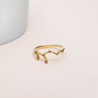 Virgo Zodiac Gold Ring - Wanderlust + Co