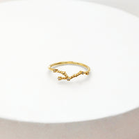 Leo Zodiac Gold Ring - Wanderlust + Co