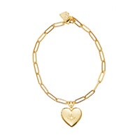Heart Gold Locket Bracelet