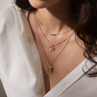 Heart Space Gold Locket Necklace