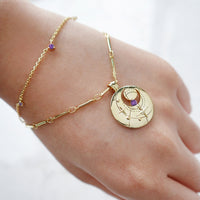 February Birthstone Gold Bracelet - Wanderlust + Co