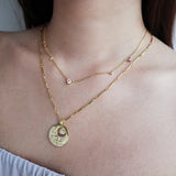 February Birthstone Gold Necklace
