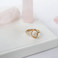 Trust the Flow Gold Ring - Wanderlust + Co