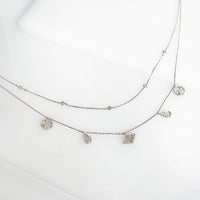 Galaxy Charms Silver Necklace - Wanderlust + Co