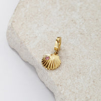 Scallop Gold Charm - Wanderlust + Co