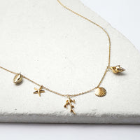 Como Charms Gold Necklace - Wanderlust + Co