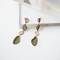 Soleil Gem Gold Earrings - Wanderlust + Co