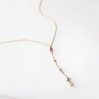 Kaia Gold Lariat  Necklace - Wanderlust + Co