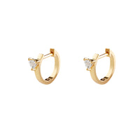Heart Space Gold Earrings