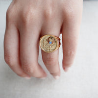 March Birthstone Gold Ring - Wanderlust + Co