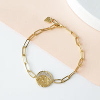 Be the Light Gold Bracelet - Wanderlust + Co