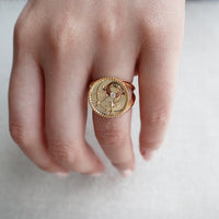 April Birthstone Gold Ring