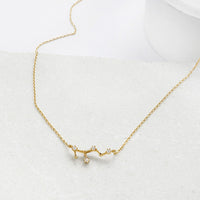 Virgo Zodiac Gold Necklace - Wanderlust + Co