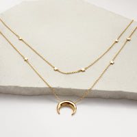 Crescent & Constellation Gold Layered Necklaces - Wanderlust + Co