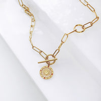 Solis Gold Toggle Necklace - Wanderlust + Co